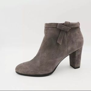 Bandolino Grey Suede Bootie BELLUNA Leather Chic 7